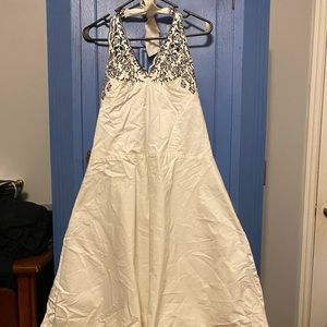 white lacey pinup sundress